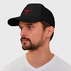 Бейсболка Quake logo цвета черный — фото 1