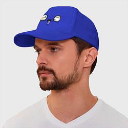 Бейсболка Усталые глаза цвета синий — фото 1