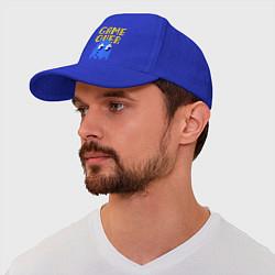 Бейсболка Pac-Man: Game over цвета синий — фото 1