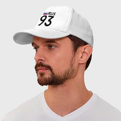 Бейсболка RUS 93 цвета белый — фото 1