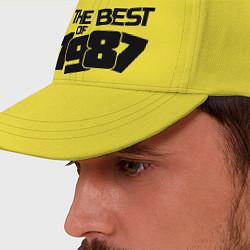 Бейсболка The best of 1987 цвета желтый — фото 2