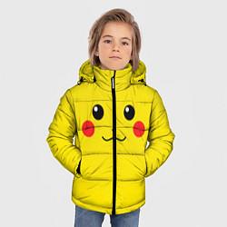 Куртка зимняя для мальчика Happy Pikachu цвета 3D-черный — фото 2