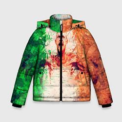 Детская зимняя куртка для мальчика с принтом Conor McGregor: Ireland, цвет: 3D-черный, артикул: 10102373006063 — фото 1