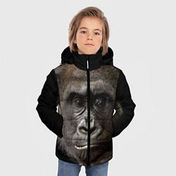 Куртка зимняя для мальчика Глаза гориллы цвета 3D-черный — фото 2
