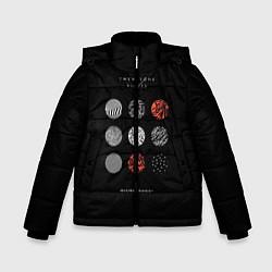 Куртка зимняя для мальчика Twenty one pilots: Blurrveace цвета 3D-черный — фото 1