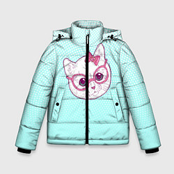 Куртка зимняя для мальчика Умная кошка цвета 3D-черный — фото 1