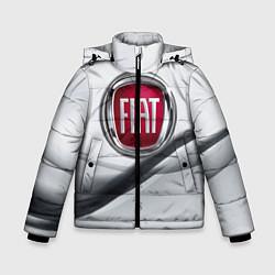 Детская зимняя куртка для мальчика с принтом FIAT, цвет: 3D-черный, артикул: 10106631206063 — фото 1