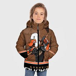 Куртка зимняя для мальчика Anaheim Ducks цвета 3D-черный — фото 2