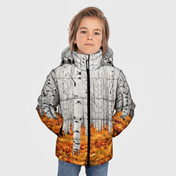 Куртка зимняя для мальчика Березовая роща цвета 3D-черный — фото 2