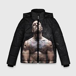 Детская зимняя куртка для мальчика с принтом Конор Макгрегор, цвет: 3D-черный, артикул: 10108606406063 — фото 1
