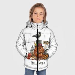 Детская зимняя куртка для мальчика с принтом Halloween, цвет: 3D-черный, артикул: 10108889606063 — фото 2