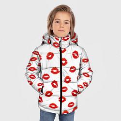 Куртка зимняя для мальчика Поцелуйчики цвета 3D-черный — фото 2