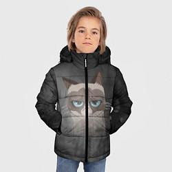 Куртка зимняя для мальчика Grumpy Cat цвета 3D-черный — фото 2