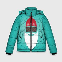Куртка зимняя для мальчика Санта хипстер цвета 3D-черный — фото 1