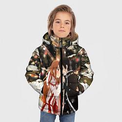 Куртка зимняя для мальчика Мастера меча цвета 3D-черный — фото 2