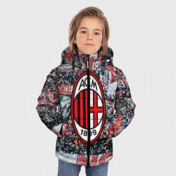 Куртка зимняя для мальчика Milan FC цвета 3D-черный — фото 2