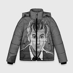 Куртка зимняя для мальчика Doctor Who: fun-art цвета 3D-черный — фото 1