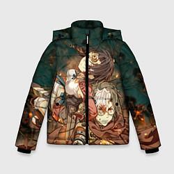 Куртка зимняя для мальчика Воин крепости цвета 3D-черный — фото 1