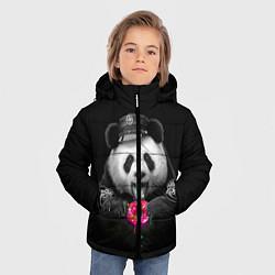 Куртка зимняя для мальчика Donut Panda цвета 3D-черный — фото 2
