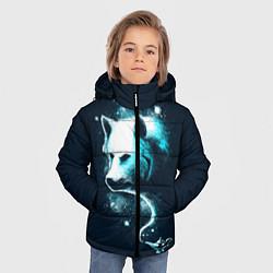 Куртка зимняя для мальчика Галактический волк цвета 3D-черный — фото 2
