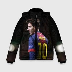 Детская зимняя куртка для мальчика с принтом Месси 10, цвет: 3D-черный, артикул: 10112712506063 — фото 1