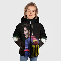 Куртка зимняя для мальчика Месси 10 цвета 3D-черный — фото 2
