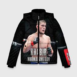 Куртка зимняя для мальчика Хабиб Нурмагомедов цвета 3D-черный — фото 1