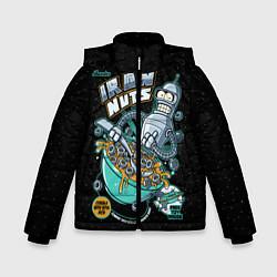 Куртка зимняя для мальчика Iron Nuts цвета 3D-черный — фото 1