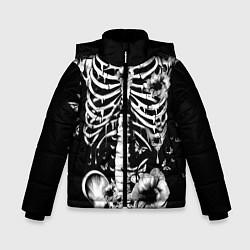 Куртка зимняя для мальчика Floral Skeleton цвета 3D-черный — фото 1