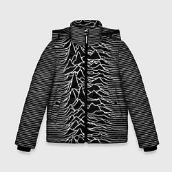 Детская зимняя куртка для мальчика с принтом Joy Division: Unknown Pleasures, цвет: 3D-черный, артикул: 10115691506063 — фото 1