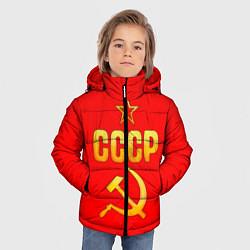 Куртка зимняя для мальчика СССР цвета 3D-черный — фото 2