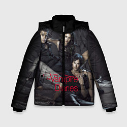 Куртка зимняя для мальчика Дневники вампира цвета 3D-черный — фото 1