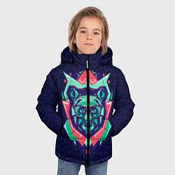 Куртка зимняя для мальчика Hipster Bear цвета 3D-черный — фото 2