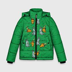 Куртка зимняя для мальчика Боевая морковь цвета 3D-черный — фото 1