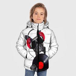 Детская зимняя куртка для мальчика с принтом DJ бульдог, цвет: 3D-черный, артикул: 10117899806063 — фото 2