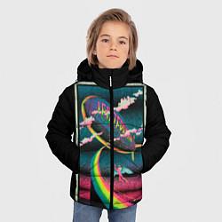 Куртка зимняя для мальчика Led Zeppelin: Colour Fly цвета 3D-черный — фото 2
