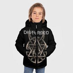 Куртка зимняя для мальчика Disturbed Logo цвета 3D-черный — фото 2