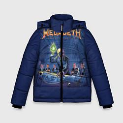 Куртка зимняя для мальчика Megadeth: Rust In Peace цвета 3D-черный — фото 1