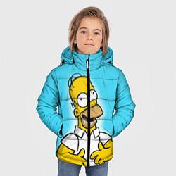 Куртка зимняя для мальчика Аппетит Гомера цвета 3D-черный — фото 2
