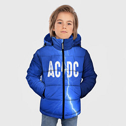 Куртка зимняя для мальчика AC/DC: Lightning цвета 3D-черный — фото 2