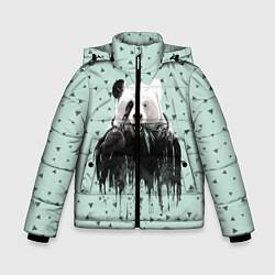 Куртка зимняя для мальчика Панда-художник цвета 3D-черный — фото 1