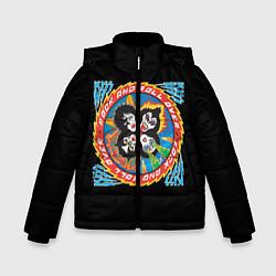 Куртка зимняя для мальчика KISS: Over цвета 3D-черный — фото 1