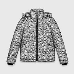 Куртка зимняя для мальчика Мегатролль цвета 3D-черный — фото 1
