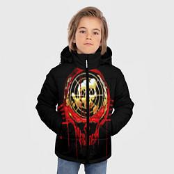 Детская зимняя куртка для мальчика с принтом Megadeth: Blooded Aim, цвет: 3D-черный, артикул: 10120102706063 — фото 2