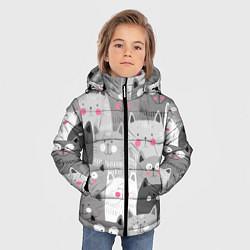 Куртка зимняя для мальчика Котейки 2 цвета 3D-черный — фото 2