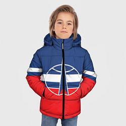 Куртка зимняя для мальчика Флаг космический войск РФ цвета 3D-черный — фото 2