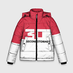 Детская зимняя куртка для мальчика с принтом 30 Second To Mars, цвет: 3D-черный, артикул: 10121020406063 — фото 1