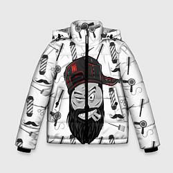 Куртка зимняя для мальчика Барбер Борода цвета 3D-черный — фото 1