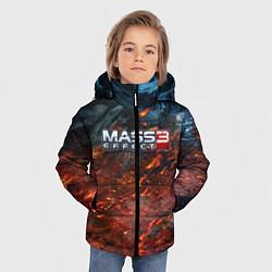 Куртка зимняя для мальчика Mass Effect 3: War цвета 3D-черный — фото 2