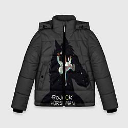 Куртка зимняя для мальчика Bojack Horseman цвета 3D-черный — фото 1